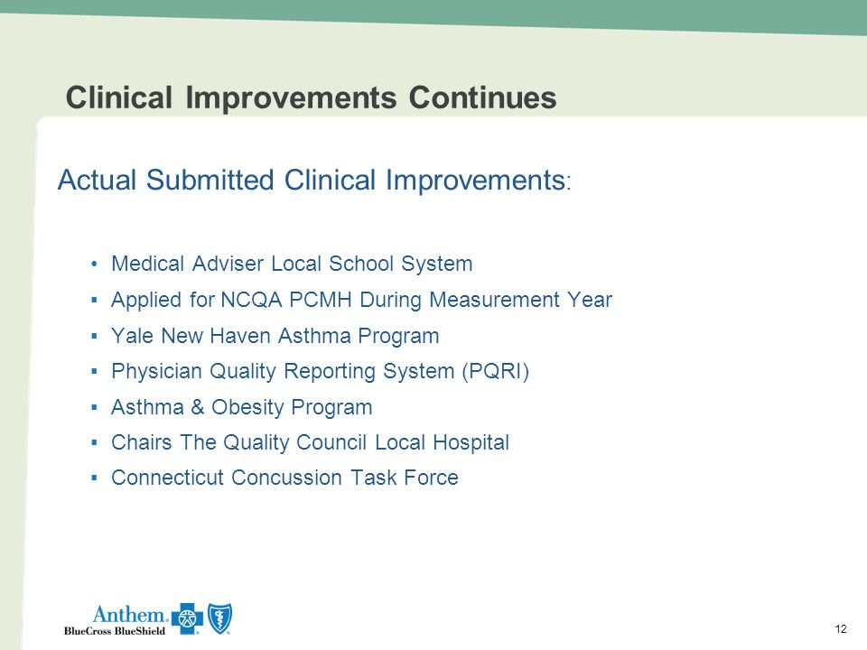 Clinical Improvements Continues