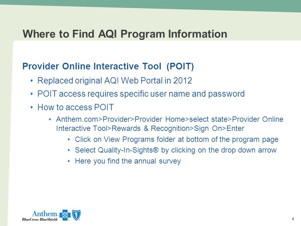 Where to Find AQI Program Information