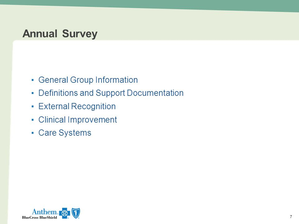 Annual Survey General Group Information