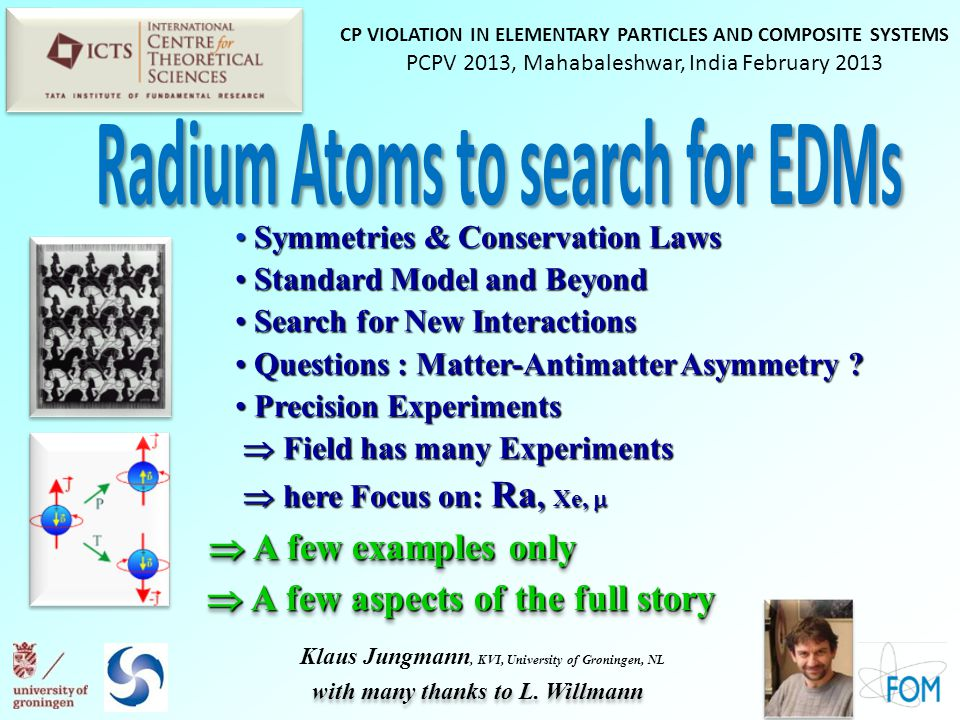 Radium Atoms to search for EDMs