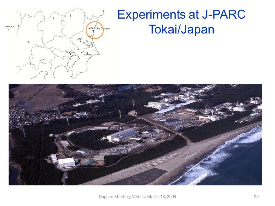 Experiments at J-PARC Tokai/Japan