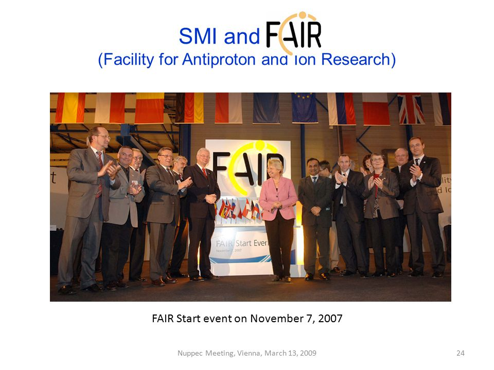SMI and FAIR (Facility for Antiproton and Ion Research)