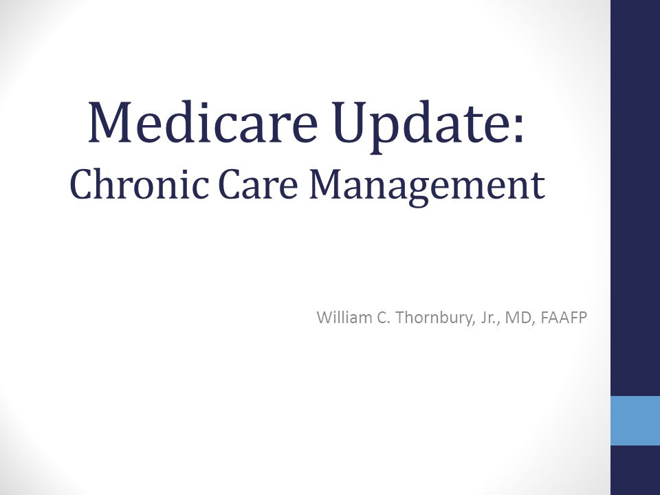Medicare Update: Chronic Care Management