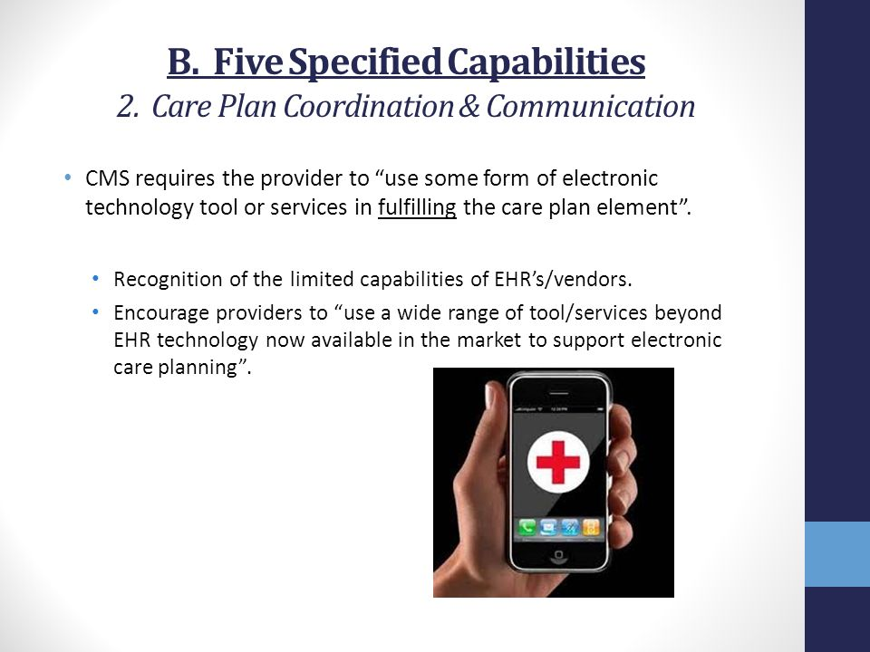 B. Five Specified Capabilities 2