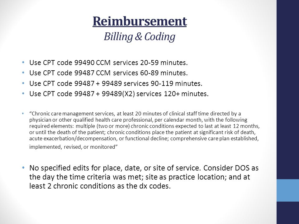 Reimbursement Billing & Coding