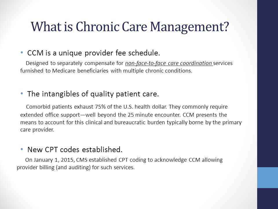 What is Chronic Care Management