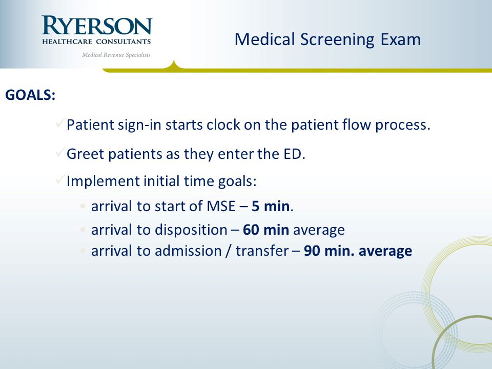 Medical Screening Exam