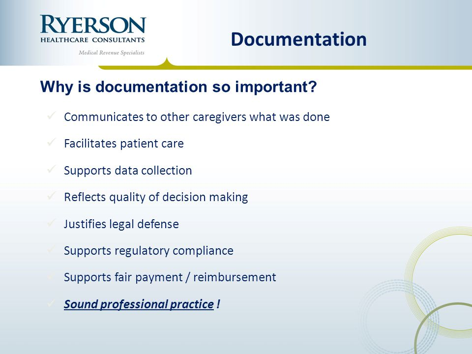 Documentation Why is documentation so important