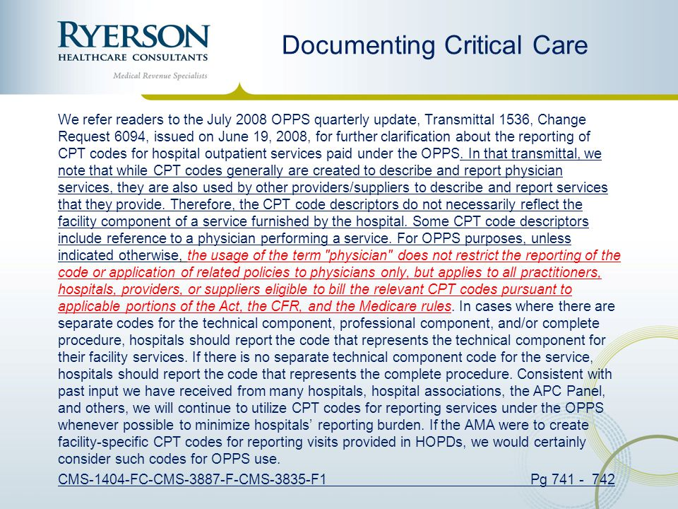 Documenting Critical Care