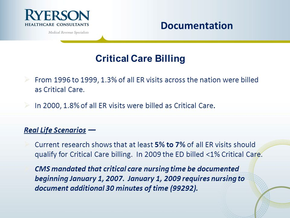 Documentation Critical Care Billing