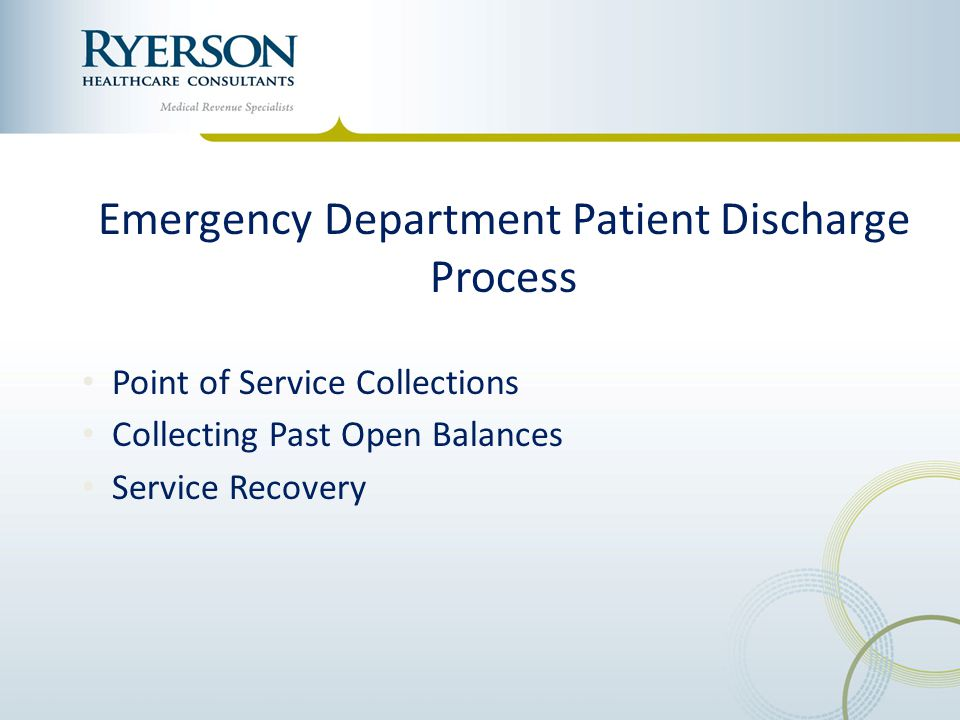 Emergency Department Patient Discharge Process