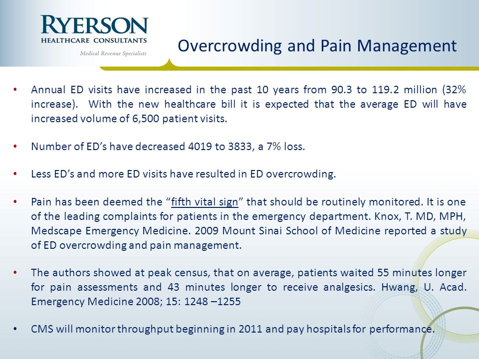 Overcrowding and Pain Management