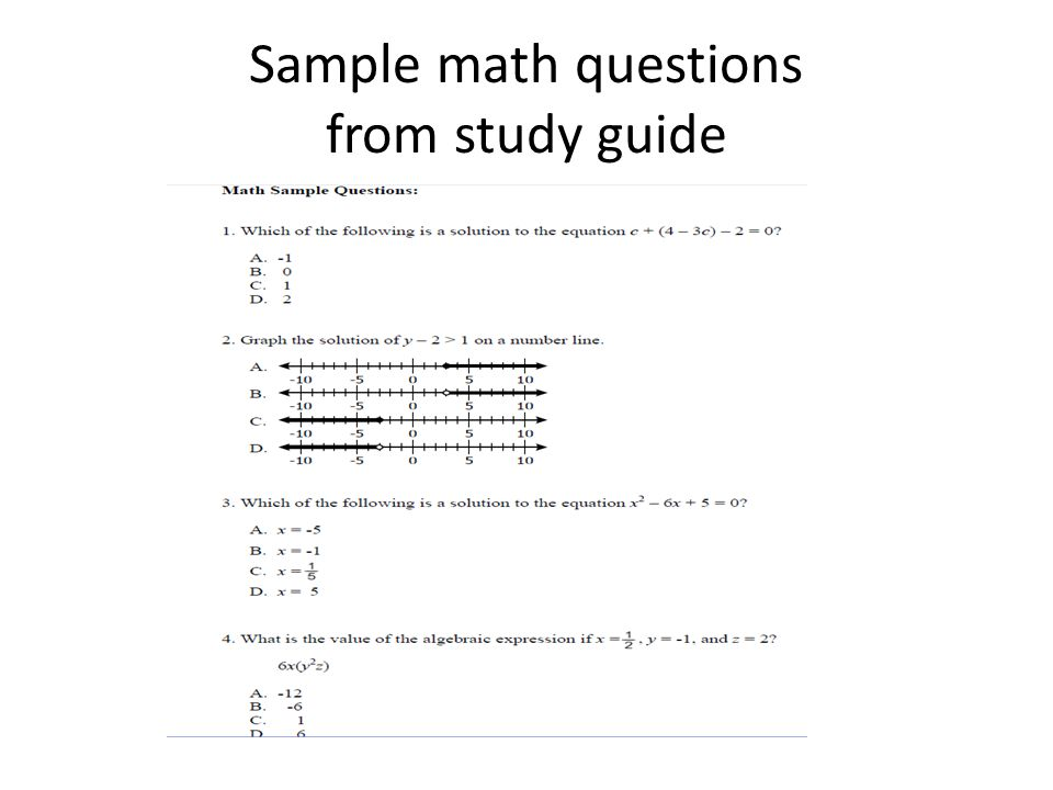 college math placement study guide