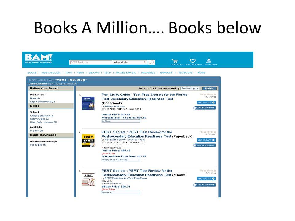 Books A Million…. Books below