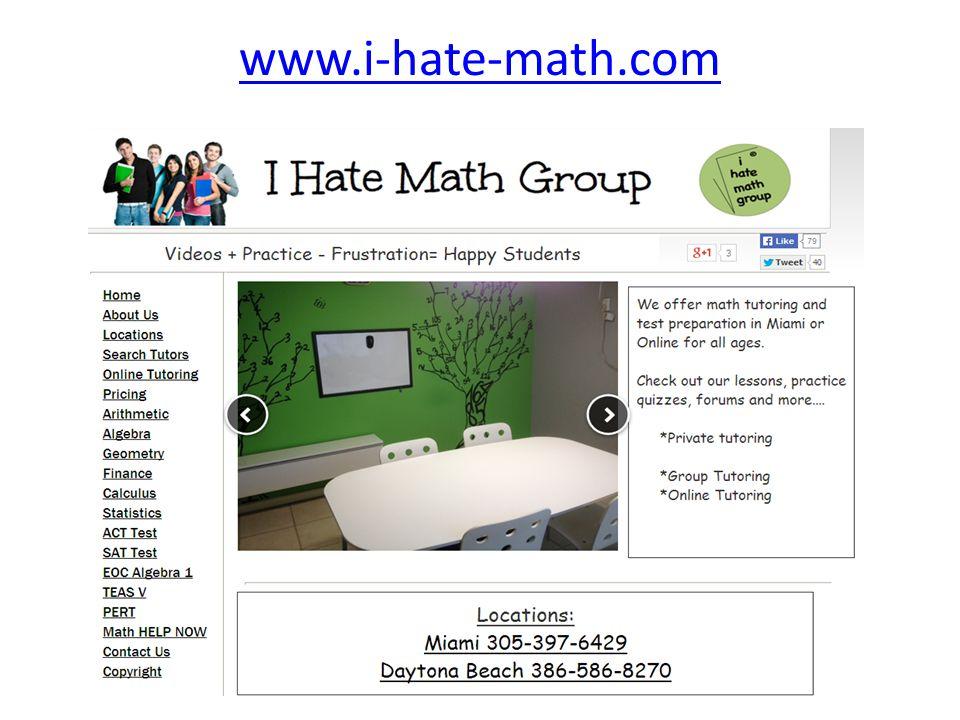 www.i-hate-math.com
