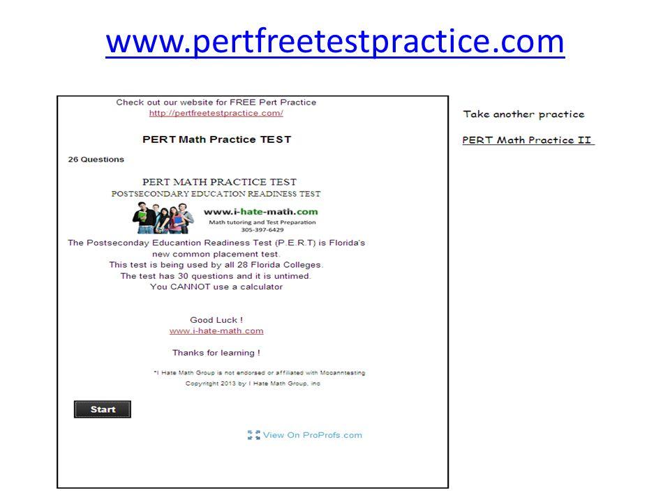 www.pertfreetestpractice.com