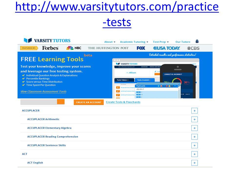 http://www.varsitytutors.com/practice-tests
