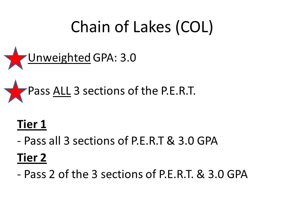 Chain of Lakes (COL)