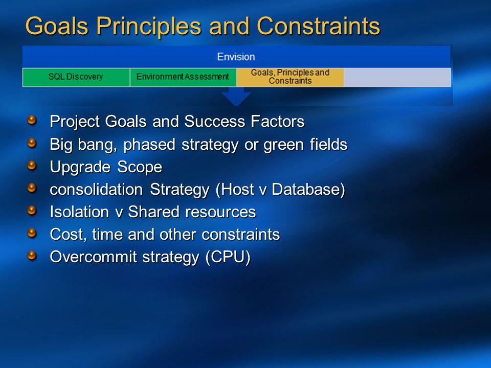 Goals Principles and Constraints