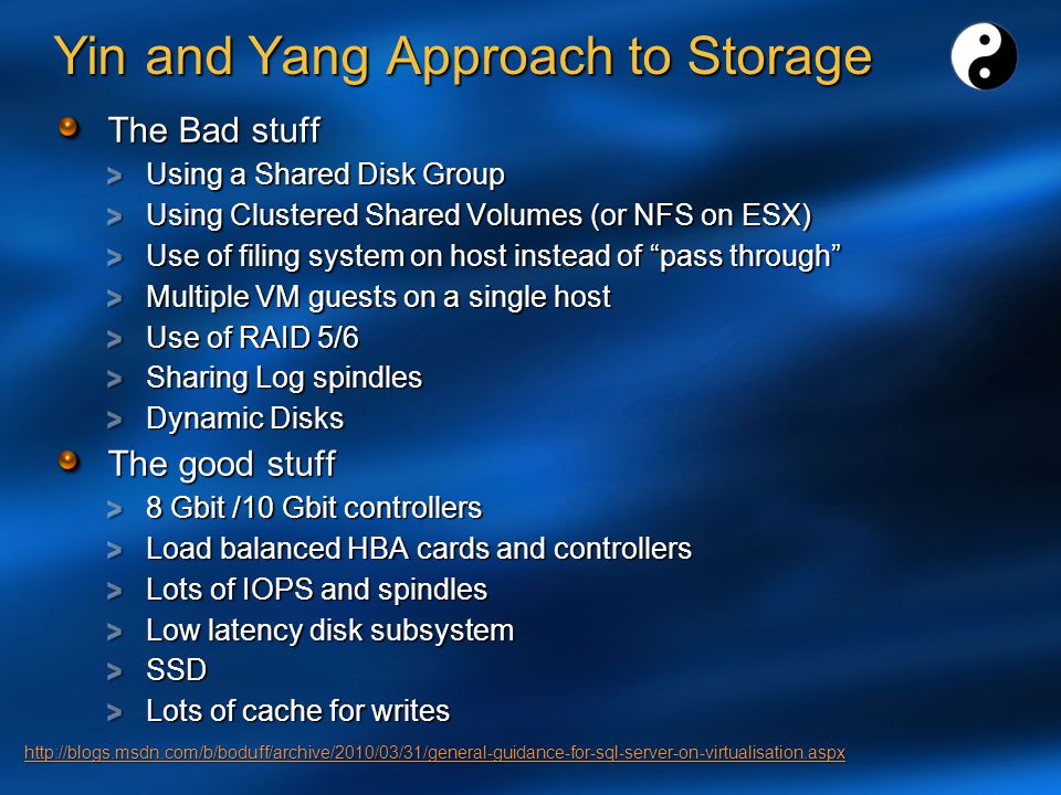 Yin and Yang Approach to Storage