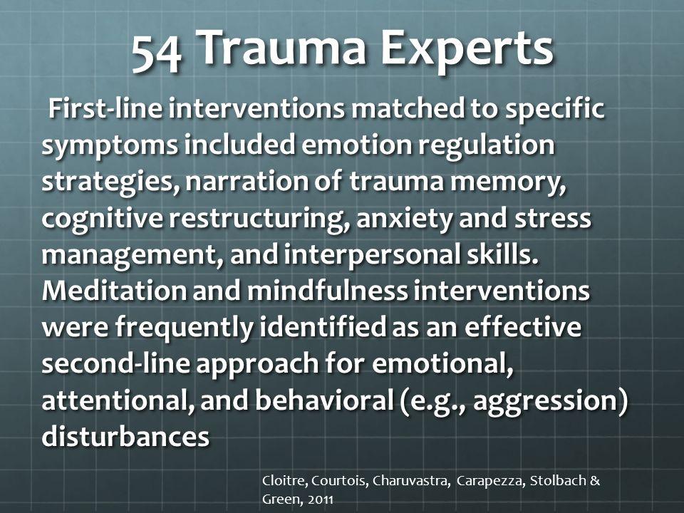 54 Trauma Experts