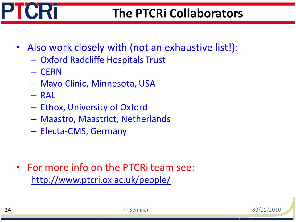 The PTCRi Collaborators