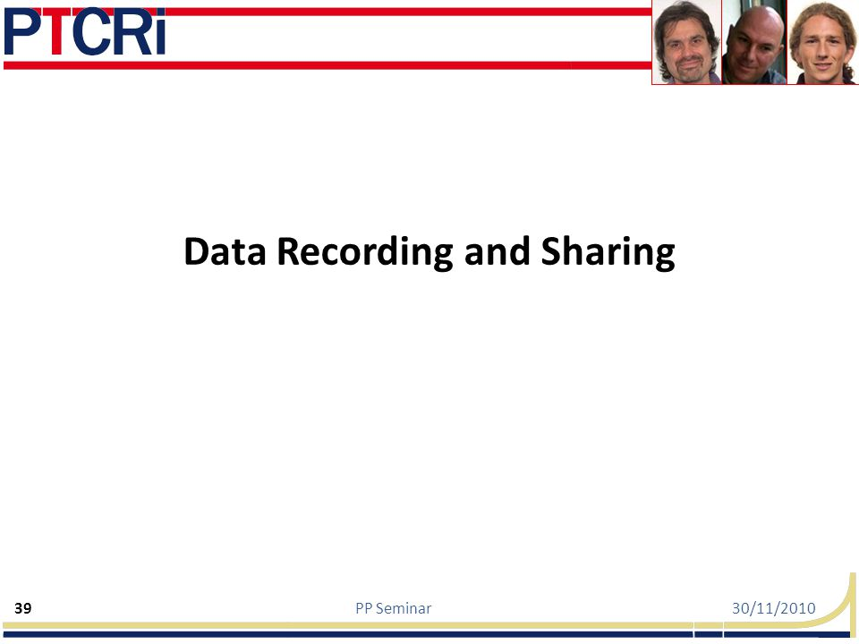 Data Recording and Sharing