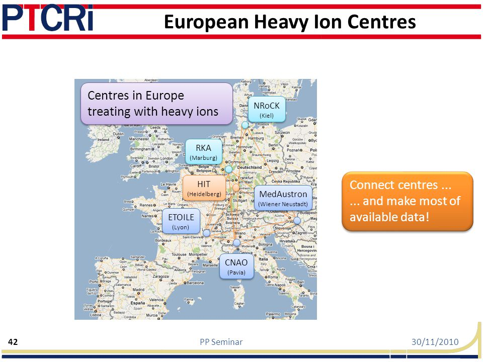 European Heavy Ion Centres