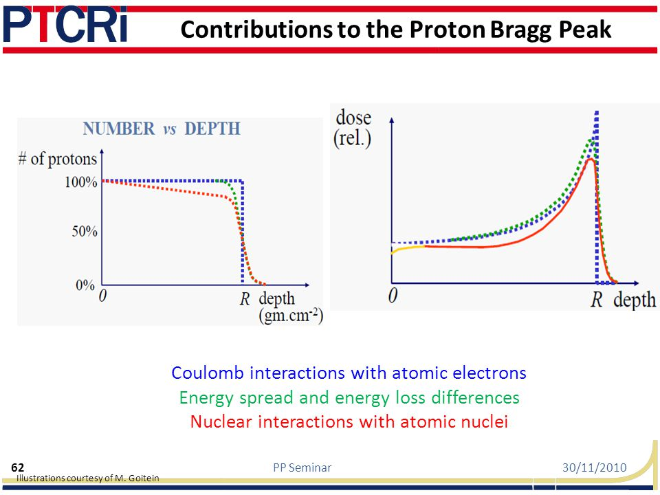 Contributions to the Proton Bragg Peak