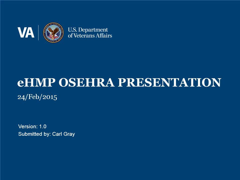 eHMP OSEHRA PRESENTATION