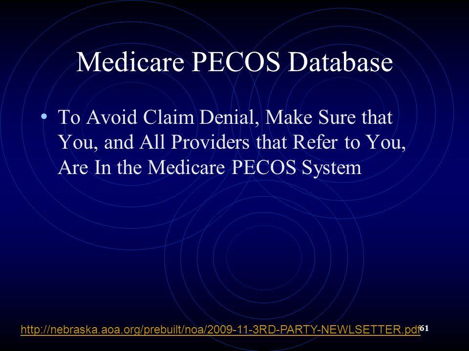 Medicare PECOS Database