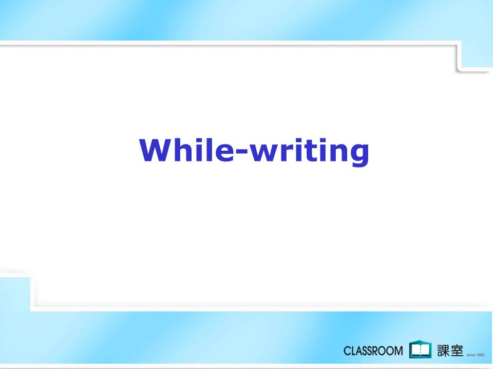 While-writing