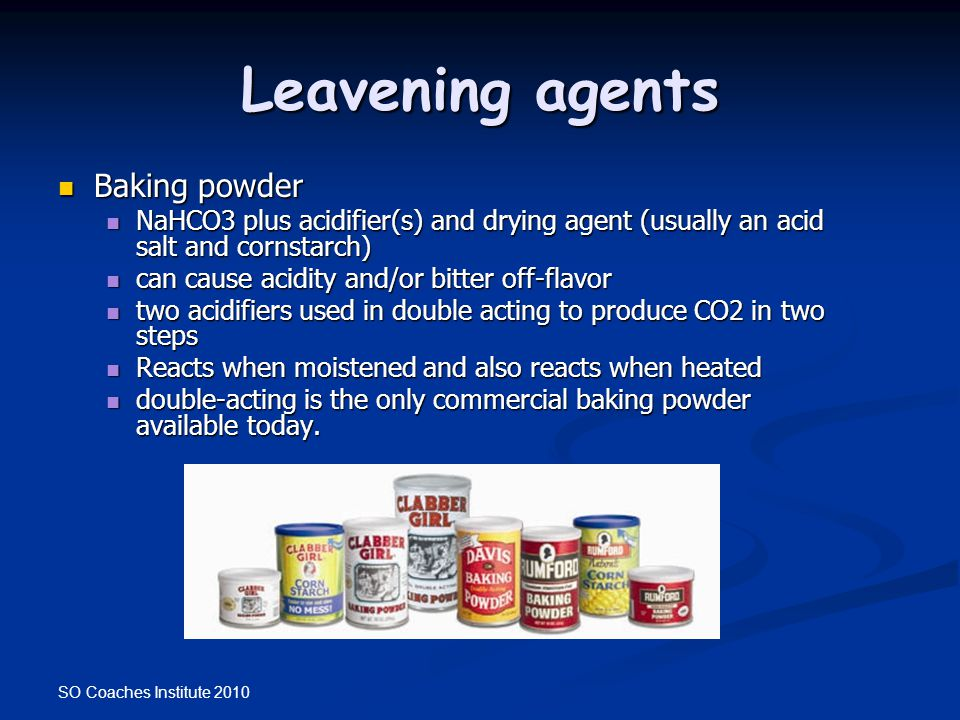 Leavening agents Baking powder
