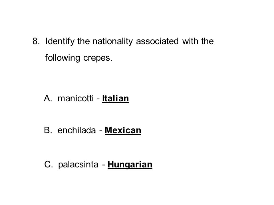 Identify the nationality associated with the