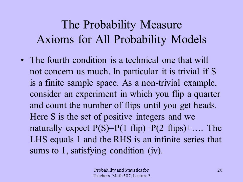 The Probability Measure Axioms for All Probability Models