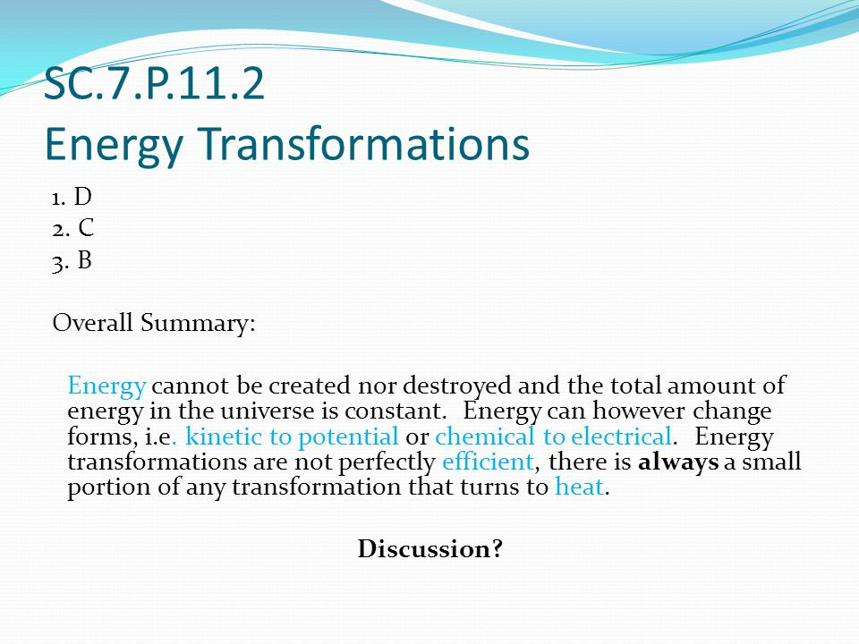 SC.7.P.11.2 Energy Transformations