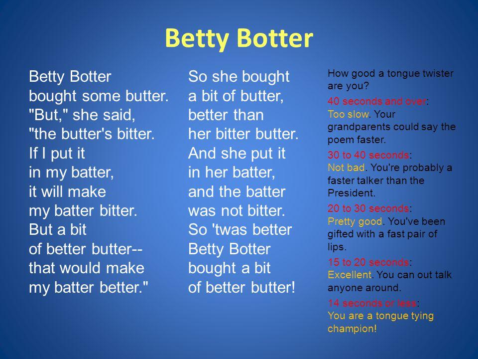 Betty Botter