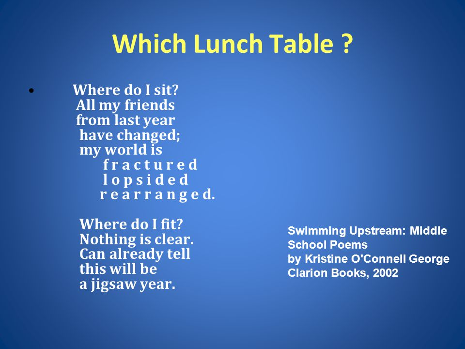 Which Lunch Table