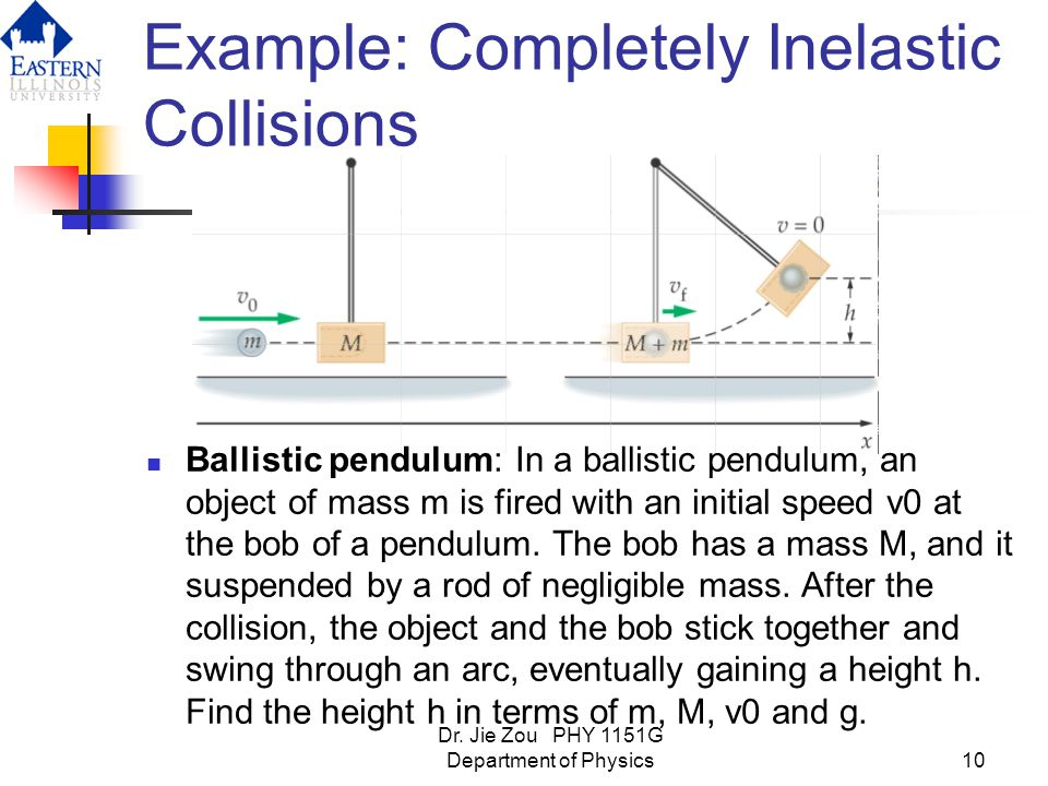 Example: Completely Inelastic Collisions