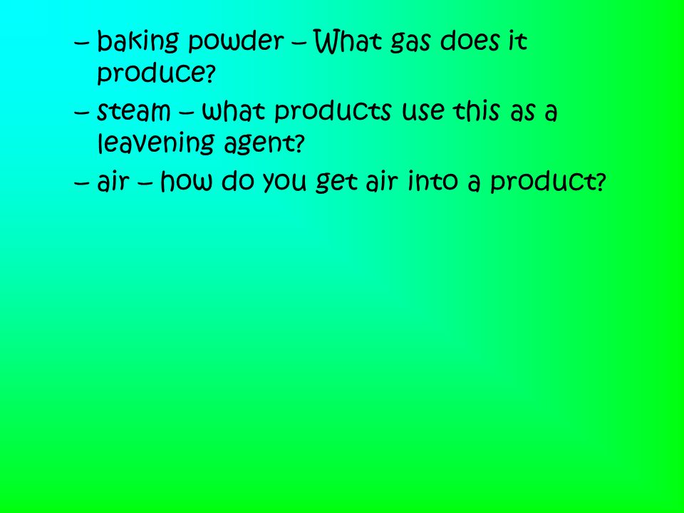 baking powder – What gas does it produce