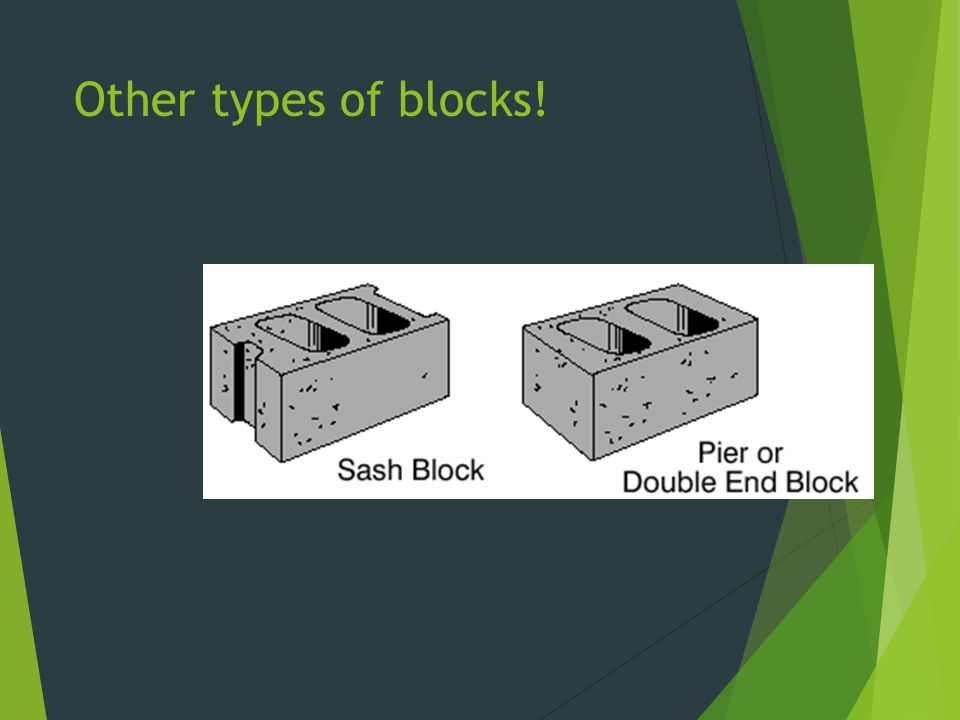 Other types of blocks!