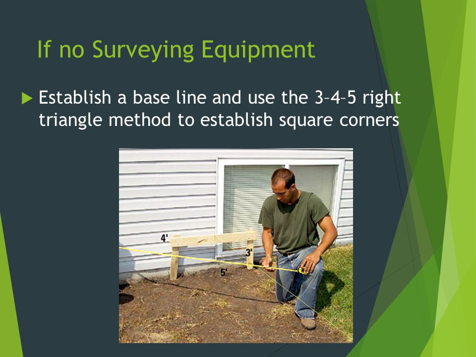 If no Surveying Equipment