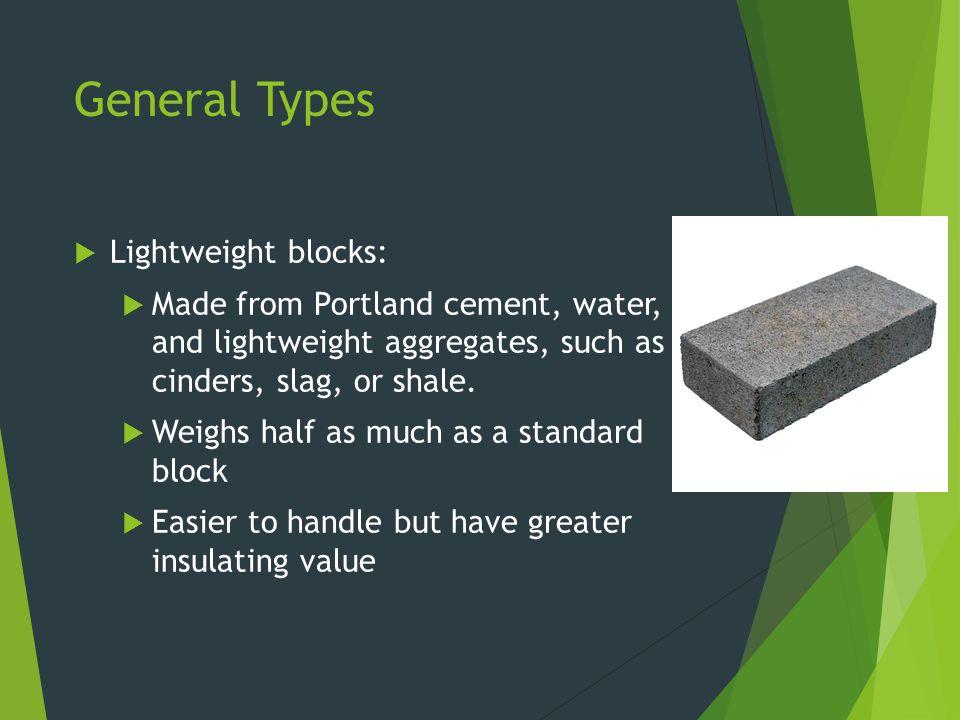 General Types Lightweight blocks: