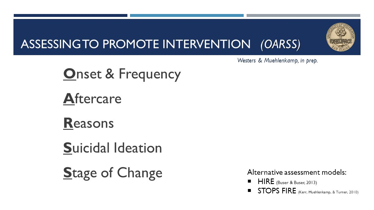 Assessing to Promote Intervention (OARSS)