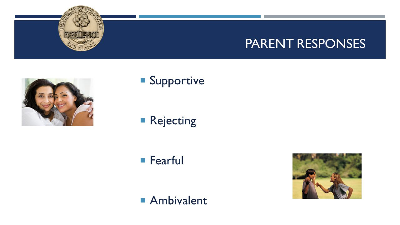 Parent Responses Supportive Rejecting Fearful Ambivalent