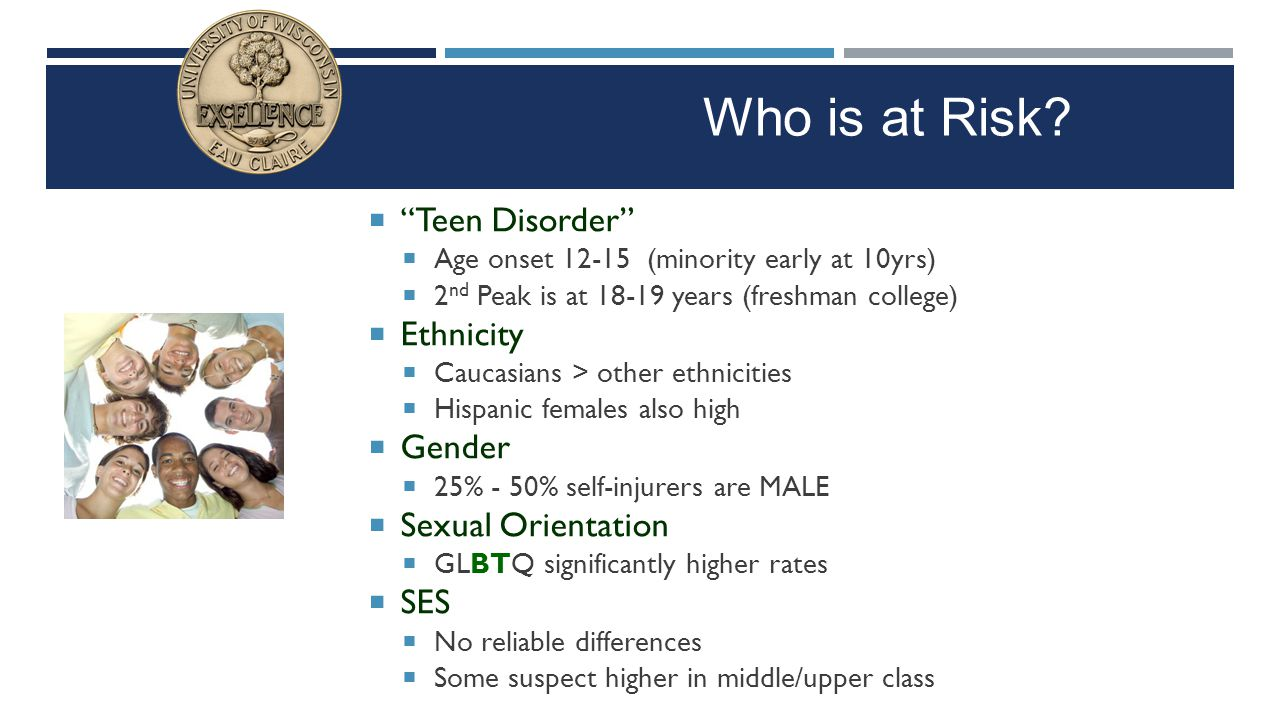Who is at Risk Teen Disorder Ethnicity Gender Sexual Orientation