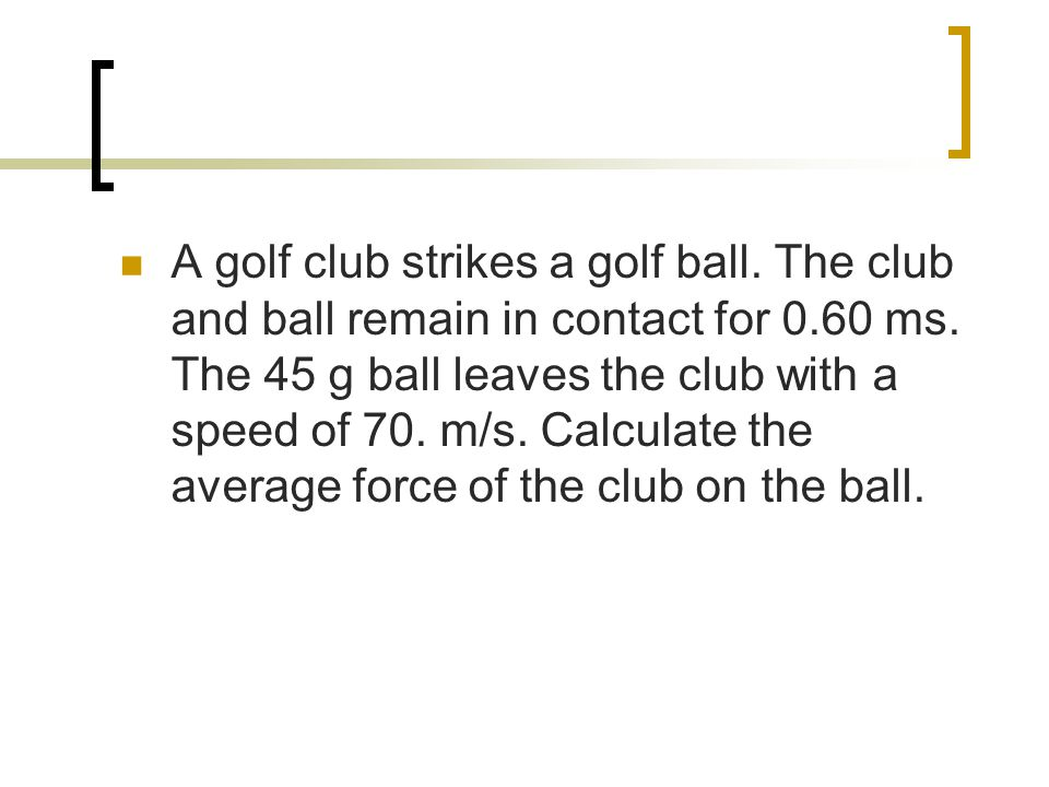 A golf club strikes a golf ball