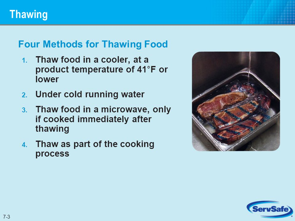 Thawing Four Methods for Thawing Food