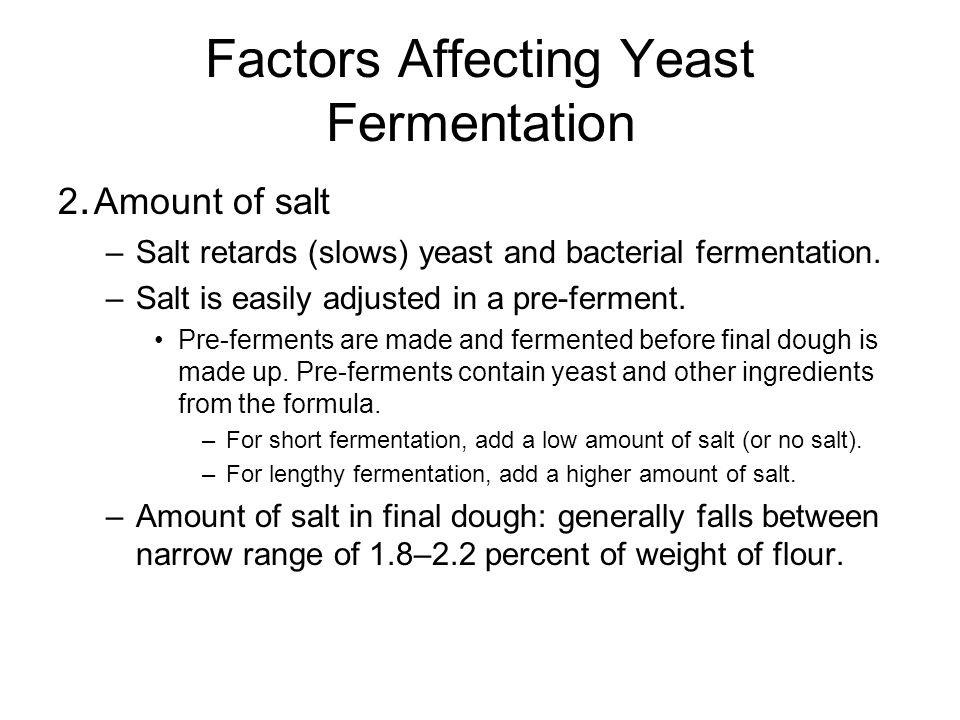 Factors Affecting Yeast Fermentation