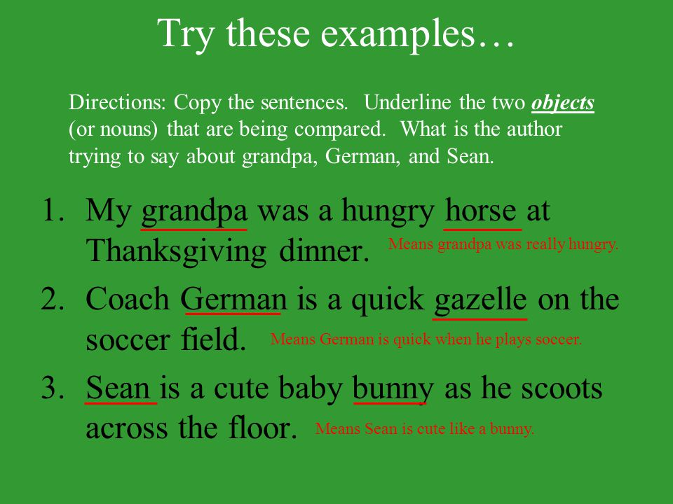 Try these examples…